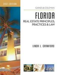 Florida Real Estate Principles Practices And Law - Paperback - Good