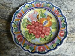 Vintage Skyros Fruit Wall Plate Signed And Marked