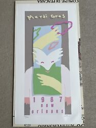 Rare 1987 Mardi Gras Poster Signed And Numbered 914/1000 By Robert Guthrie