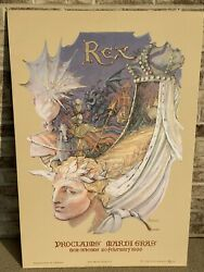 Rare 1996 Rex Mardi Gras Poster By G. Dureau New Orleans Signed And Embossed