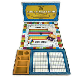 Stock Market Game Deluxe Vintage 1968 Board Game Complete Whitman 4821 Finance