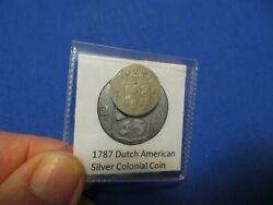 1787 Silver Early American Colonial Coin Before Us Minted Coins Free Shipping