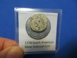 1778 Silver Early American Colonial Coin Before Us Minted Coins Free Shipping