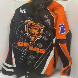 Official Nfl Chicago Bears Jacket Coat Red Zone Size Small