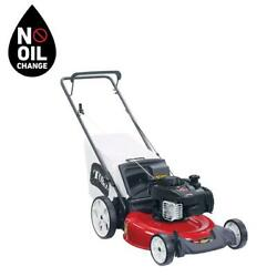 Recycler 21 Inch High Wheel Gas Powered Walk Behind Push Lawn Mower With Bagger