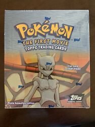 Pokemon The First Movie Topps Trading Cards Box 36 Packs Black Label