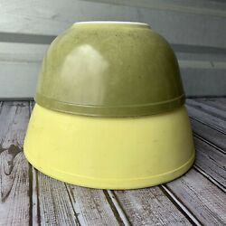 Vintage Pyrex Mixing Bowl Set 404 403 Yellow Green Primary 1940s 1950s