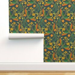 Peel-and-stick Removable Wallpaper Garden Victorian Mythical Chinoiserie Floral