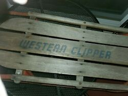 Vintage Western Clipper Wood And Metal Snow Sled Pre-loved Condition