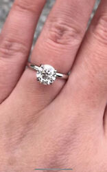 1.52 K Diamond Ring With A Sterling Silver Band