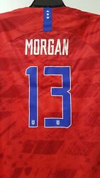 New Alex Morgan Uswnt Nike United States Soccer 3 Star Nwt Womens Jersey Large