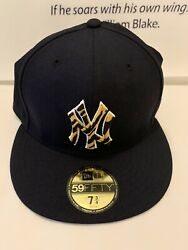 Atmos 5950 New Era Ny Yankees Fitted Hat Tiger Print Logo 7 3/4 New In Plastic