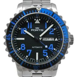 Fortis Marine Master Day/date Blue B-42 670.15.15b Men's Automatic Black Dial