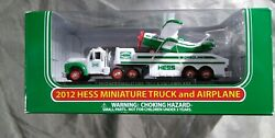 2012 Miniature Hess Truck And Airplane 🆕 In Box 🆓 Shipping