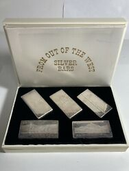 1968 Wh Foster Silver Bar Set - Five 3 Oz Bars From Out Of The West Walla Walla
