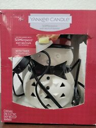 Yankee Candle Scenterpiece Warmer Snowman Melt Cup with Timer New in Box