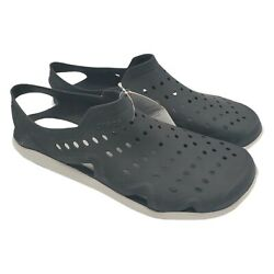 Crocs Swiftwater Wave Sandals Mens Size 11 Black Water Clogs Slip On Shoes Nwt