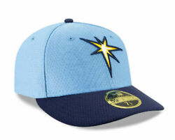 New Era Mlb Tampa Bay Rays Authentic 59fifty Fitted Baseball Cap Hat Sz 7 1/8