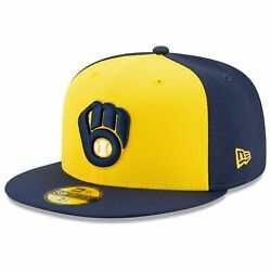 New Era Mlb Milwaukee Brewers Authentic Collection On-field 59fifty Fitted Cap