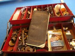 Vintage Boeing Nasa Tool Box Rare Unique Airplane W/ Cap And Other Relics Must See