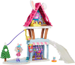 Mattel Enchantimals Hoppinand039 Ski Chalet With Bevy Bunny And Jump Dolls