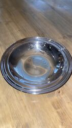 International Silver Co Silver Plated Dish Bowl Round Tray 6448 Snack Nut Mint