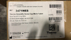 Thermo Scientific Screw Cap Micro Tubes With O-ring White Eo-sterile 5000 X Cs