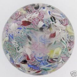 Old American Negc Or Boston Sandwich Glass Scramble End-of-day Paperweight Gl