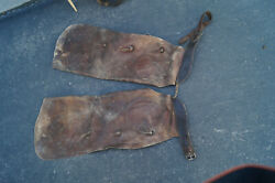 Heiser Chaps Vintage Leather Chaps Ranch Hand Chaps Decoration Heiser Leather
