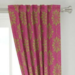 Blooms Funky Modular Big Retro Bold 50 Wide Curtain Panel By Roostery