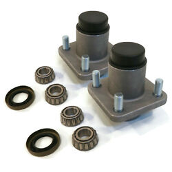 Pack Of 2 Front Hub Kits With Dust Covers For Yamaha Jn6-f5118-00, Jn6f511800