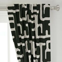 African Fashion Mudcloth Modern Kuba 50 Wide Curtain Panel By Roostery
