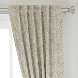 Modern Farmhouse Sugar Spice Floral Neutral 50 Wide Curtain Panel By Roostery