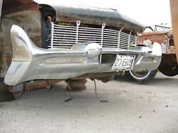 58 1958 Lincoln Premiere Front Bumper With Dagmars And Turn Signals  Core
