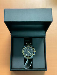Movado Series 800 Chrono Black Dial Two-tone St. Steel Mens Watch Used In Box
