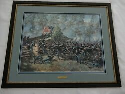 Burnsideand039s Bridge By Don Troiani Collectible Civil War Print Sign/numbered