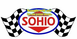 Sohio Gasoline T-shirts With Racing Flags Gas Globes Gasoline Signs Decals