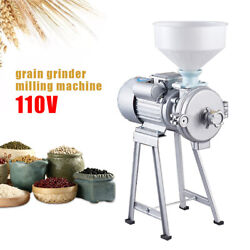 Commercial Cast Iron Mill +funnel Wet Dry Grinder Machine For Corn Grain Wheat