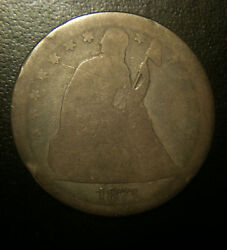 1871 Seated Dollar 1 Fair About Good Lowball Silver Fr Ag Liberty Problem Free