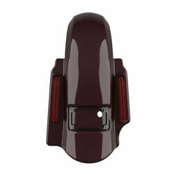 Black Cherry Dominator Stretched Rear Fender 2 Into 1 Fits Harley Touring 09-13