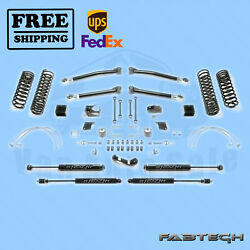 5 Trail Long Travel Syst W/ Stealth Shocks Fabtech For 07-17 Jeep Jk 4-door 4wd