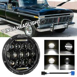 Projector 7 Inch Led Headlight Hi Lo Beam With Drl Fit For Ford F-150 Pickup Mpv