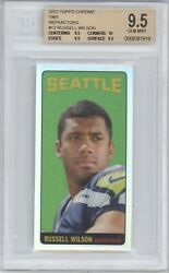 Russell Wilson 2012 Topps Chrome Rc 1965 Rookie Refractor 48/99 Bgs 9.5