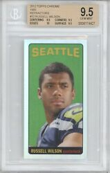 Russell Wilson 2012 Topps Chrome Rc 1965 Rookie Refractor 12/99 Bgs 9.5