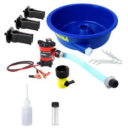 Blue Bowl Concentrator Kit With Pump, Leg Levelers, Vial And Snuffer Gold Mining