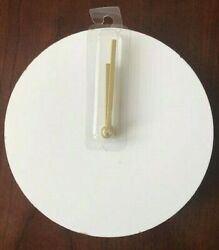 Horizon Minimalistic Battery Clock White with Gold Hands