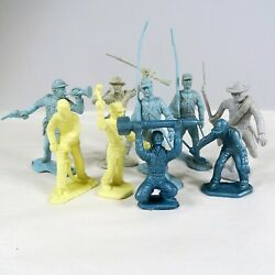 Vintage Marx Lot Of 9 Figures Civil War Soldiers And Cape Canaveral Set