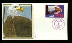 Us Fdc 2394 Gl Litvak H/p 8.75 Eagle 1988 Express Mail Unofficial Rushville In