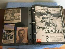 Vintage Tarzan Scrapbook 165+ Pages Flash Gordon Sea Hound Buster Crabbe 1940and039s+