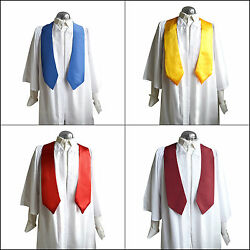 Set Of 10 Choir Robes/gowns And Sashes/stoles Women/men White Church Graduation